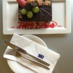 A surprise birthday cake from the chef
