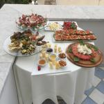 Special buffet on own terrace