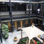 Open courtyard of hotel
