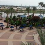 A view of the Kemah Boardwalk from our hotel room.