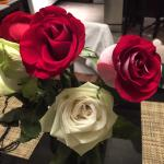 Our maid brought us roses!