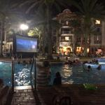 Main pool 8- Rec team Movie at the pool! Big Hero 6