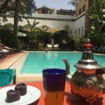 Wonderful refreshing tea by the pool