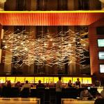 The hotel bar at Hilton Tysons Corner