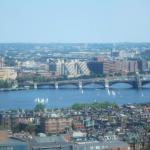 High floor view of Charles River from Marriott Copley Place