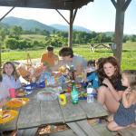Family dinner on the farm!