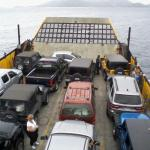 Ride on ferry from at Thomas to St. John