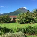Arenal volcano view from our room