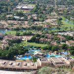 view from Camelback looking down on Phoenician Resort