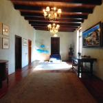 One of the main hallways on the second floor leading to guest rooms.