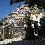The hillside of Positano