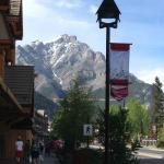 View from downtown Banff
