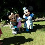 picture time with Mickey and Minnie