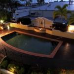 Pool and surrounds by night