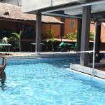 Indulge in a game of pool volleyball
