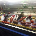 "The seafood selection at the nearby Flower Market restaurants at night is ""out of this world"""