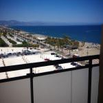 view to beach from superior room, could watch airplanes landing and taking off!