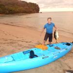 Guest who caught a fish while kayaking!