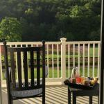 rocking chair and view from room 153