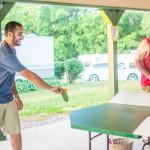 Friends enjoying a game of polypong!