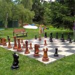 Playing some giant chess in the afternoon.