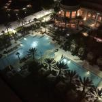 Waldorf Pool area from 15th Floor room view