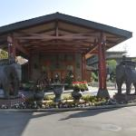 The elephants welcome you to the lobby