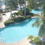 Picture of pool area from our room