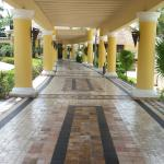 The beautiful walkways around the resort