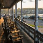 Rocking chairs at The Wesley, a historic Martha's Vineyard hotel