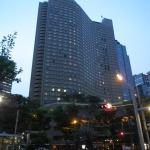 Exterior of hotel in the evening