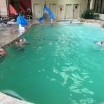 Pool with family