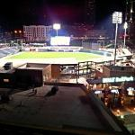 View of ballpark from floor balcony.