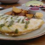 Breakfast Worth Photographing at the Andaz San Diego rooftop restaurant: Caprese Omelet: Eggwhit