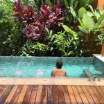The private plunge pool fed by hot thermal spring water.