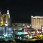 A view of the Strip at night
