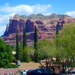 The actual view of the red rocks from the hotel car park.