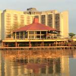 View of hotel and Pier 73 from water taxi