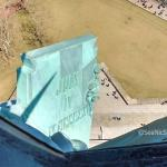 A view of the Statue of Liberty Tablet from an open window in the crown