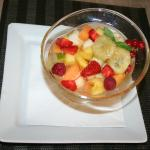 Salade de fruits en dessert