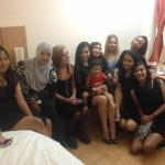 my big Indonesian family in our double room LOL
