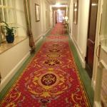 The hallway outside our room.
