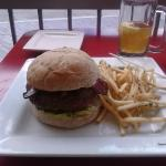 Bacon Bison Burger and Beer