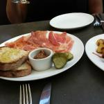 cured meats and chorizo