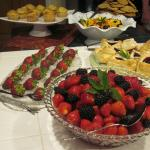 Fresh fruits for breakfast- in addition to home made biscuits, French toasts, omelets, ham, etc