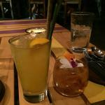 The Lemongrass Mojito and Sweet Bacon drinks