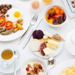 Full buffet breakfast in restaurant Monaco