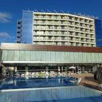 View of Outdoor pool and rear of hotel