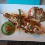 Brochette st jacques saumon