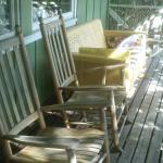 Enjoy a rocking chair while listening to the creek nearby.